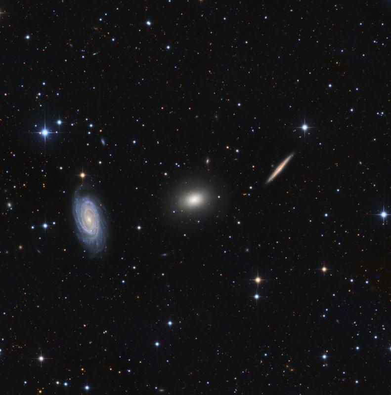 NGC 5981, NGC 5982, NGC 5985 (Draco Triplett)