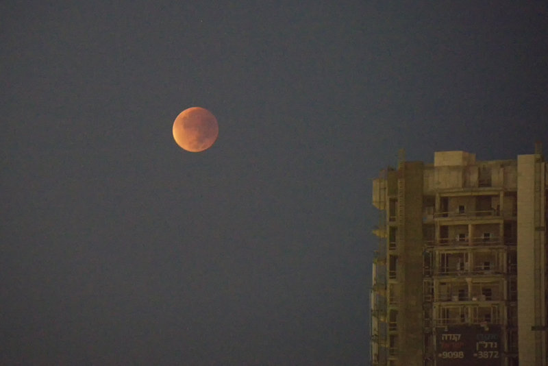 The Blood (Harvest)Moon in Tel Aviv