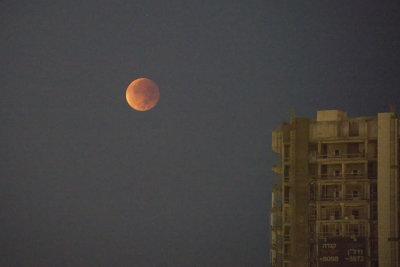 The Blood (Harvest)Moon in Tel Aviv