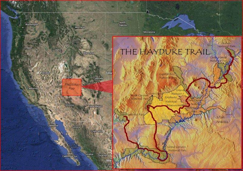 HaydukeTrail map