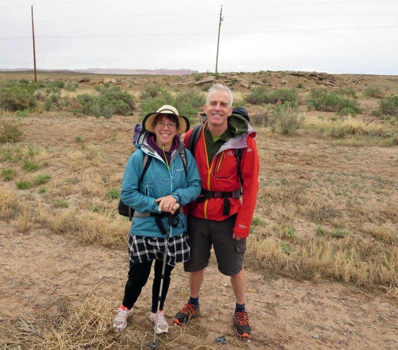Brian and Martina at the start