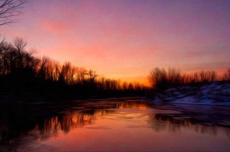 Sunrise at Crawford Ford
