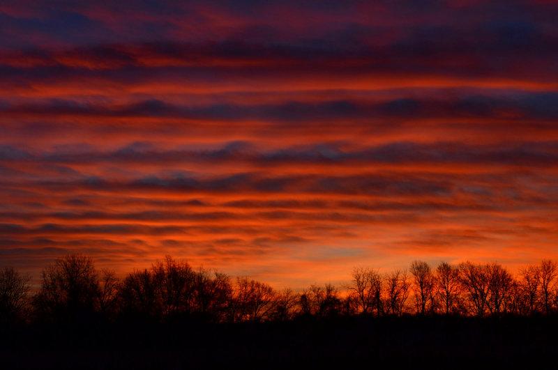 Alto Cumulus Undulatus Sunrise Cloud Formations