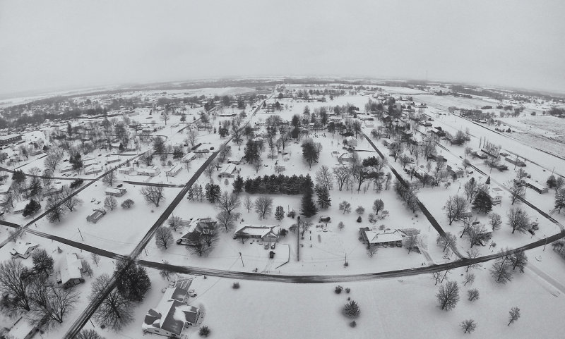 Albany Blanketed in Snow