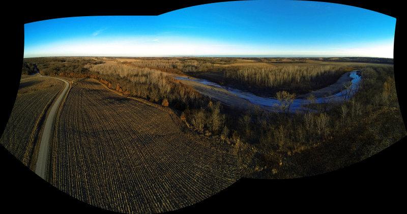 Sunrise at Elam Bend (Uncropped Stitch)