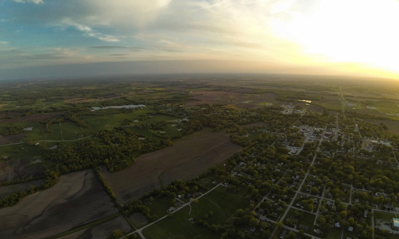 High Flight at Sunset