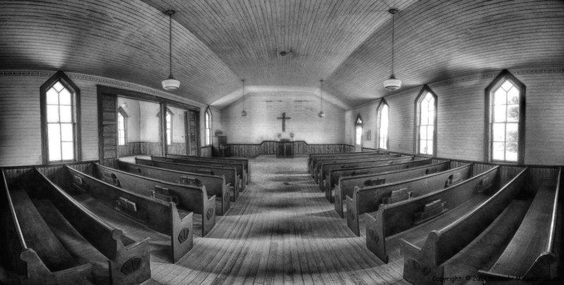 Mount Zion Church Interior (B&W)