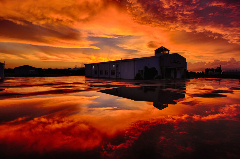 Sunset Reflections at Hundley Whaley