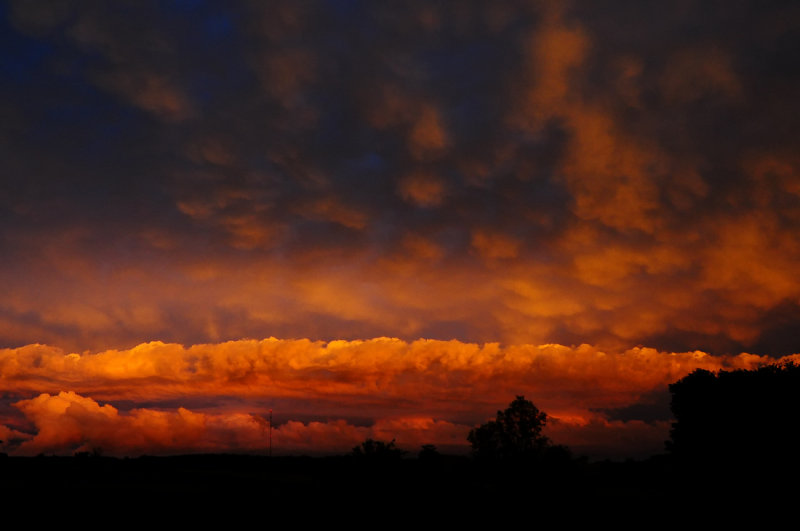 Vivid Sunset following Thunderstorms