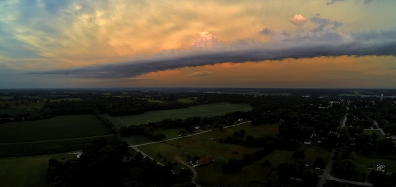 Outflow from Distant Storms
