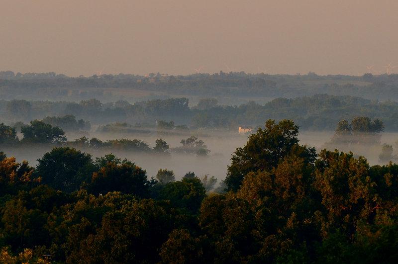 Fog over Sandsville