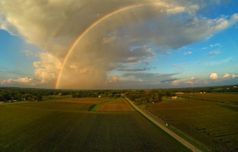 Rainbow from the Air