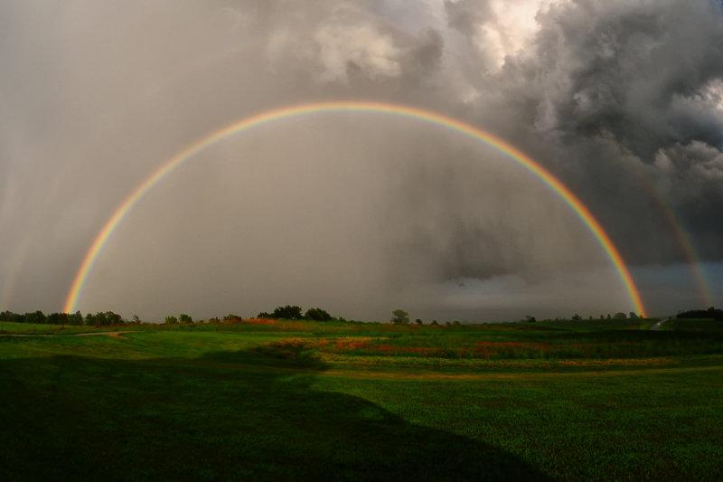 Friday Night Storm with Rainbow