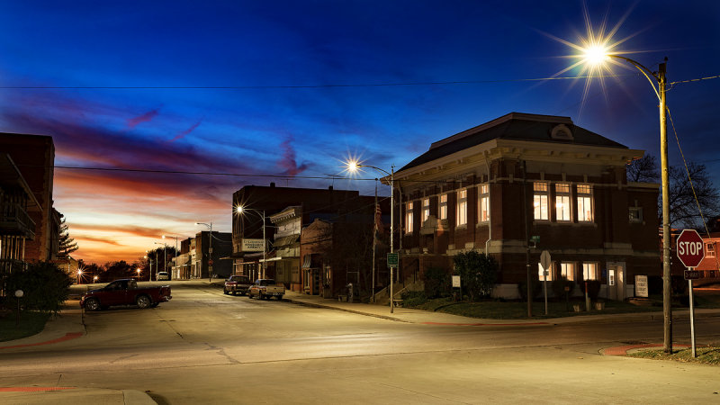 Carnegie Library at Night