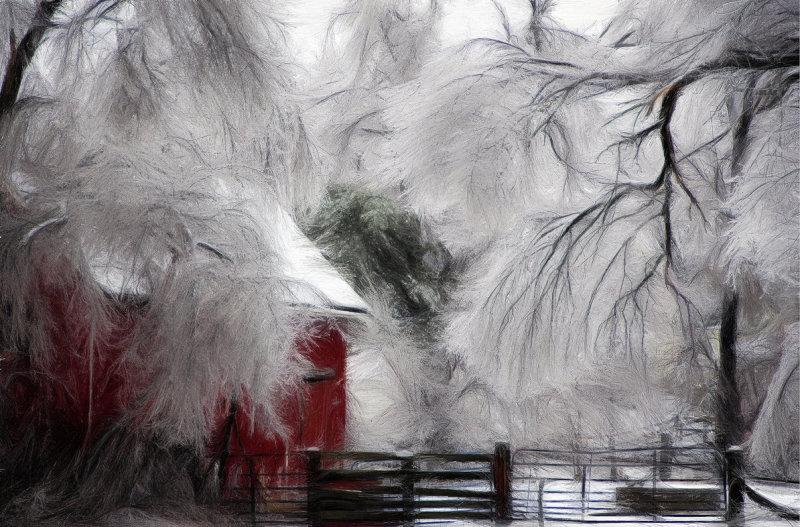 Ice Storm & Barn #2