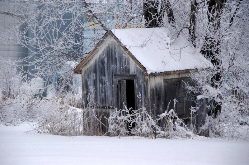 Small Barn in Winter