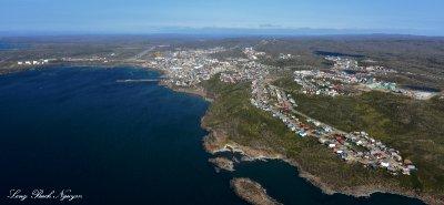 Iqaluit and Iqaluit Airport Frobischer Bay Nunavut Baffin Island Canada