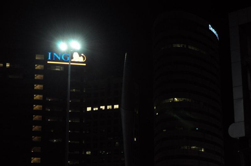 Deutsche bank/ING buildings with anti semitic ping pong table