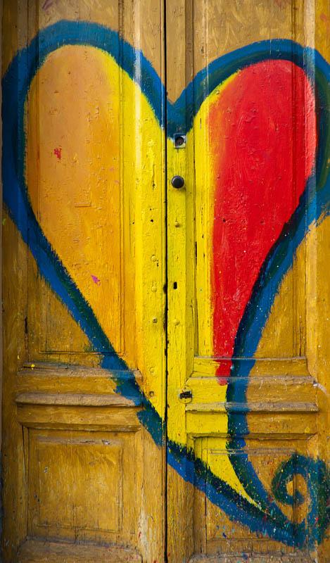 A heart to your door