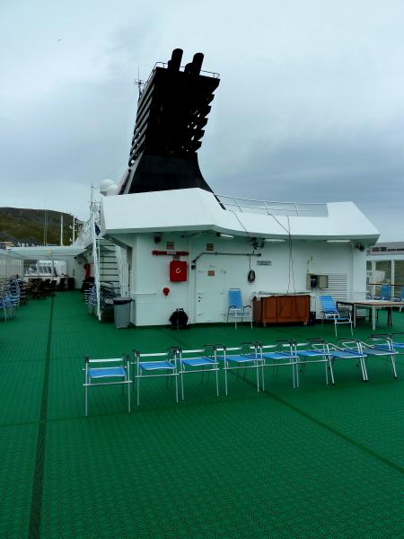 NORDNORGE - Rear Top Deck on visit @ Honningsvag, North Cape, Norway