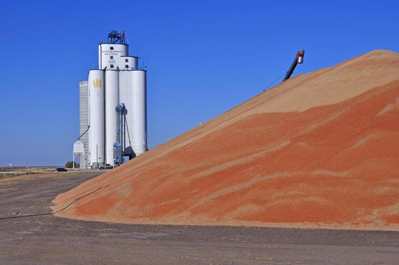 Galatia, KS grain elevator.
