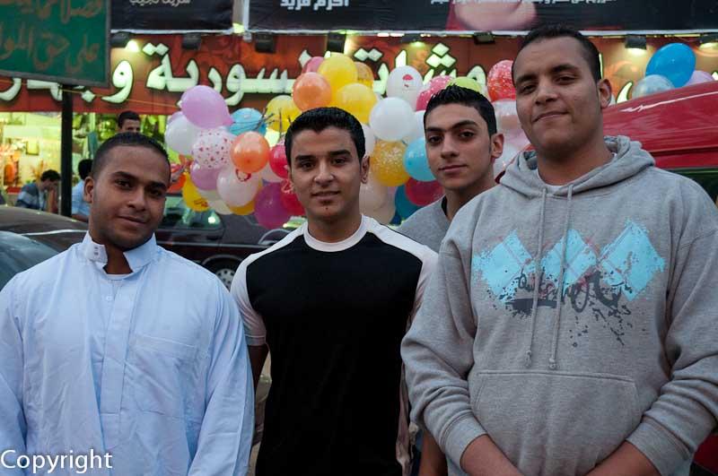 People at the Eid el Adha celebrations, Cairo