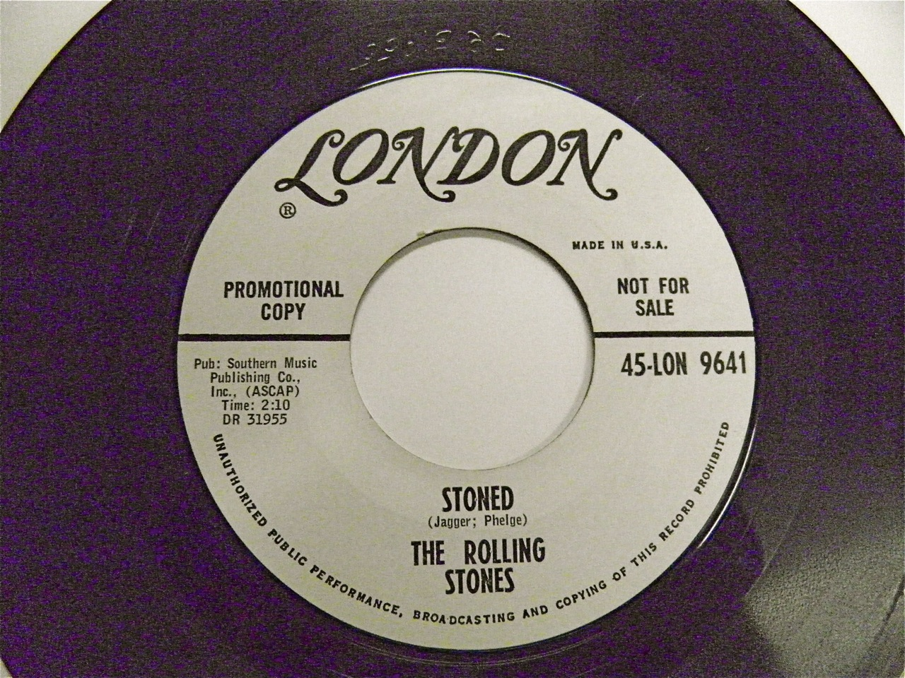 The Rolling Stones 45 promo - STONED