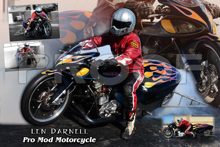 2011 Len Darnell ADRL Pro Mod Motorcycle