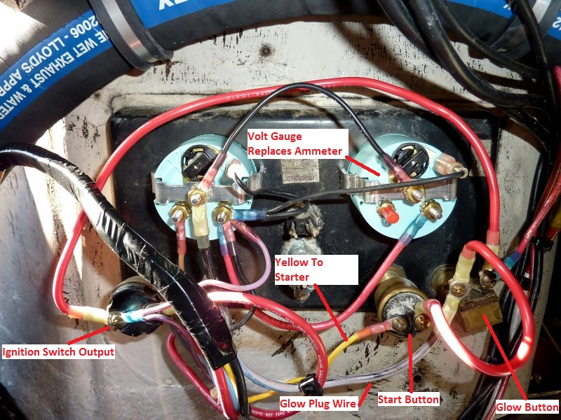 auto meter temp gauge wiring diagram re wired panel photo compass marine how to photos at pbase com  re wired panel photo compass marine