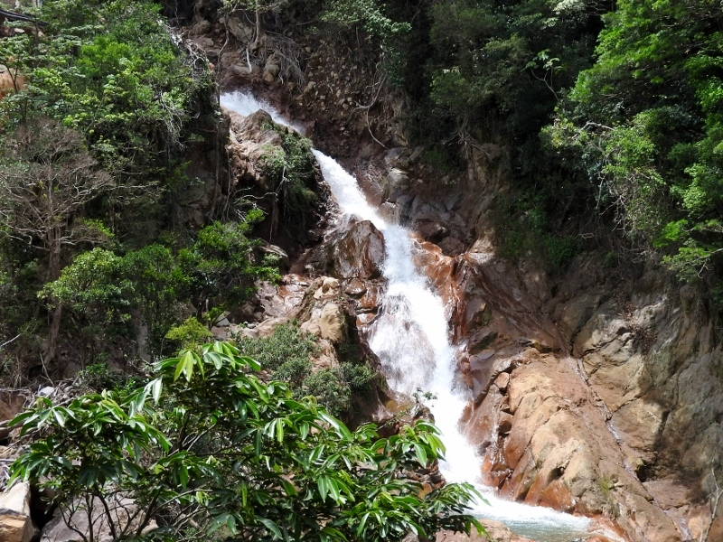 Llanos de Cortez waterfall at Miravalles