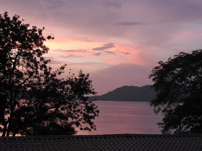 Sunset over the Gulf of Papagayo