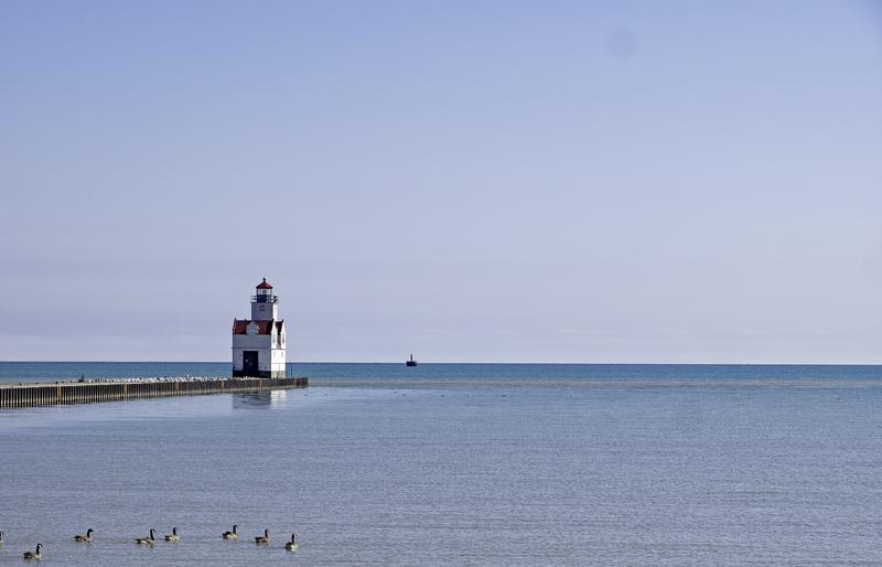 The Pierhead Lighthouse in Kewaunee,  WI (On Lake Michigan)