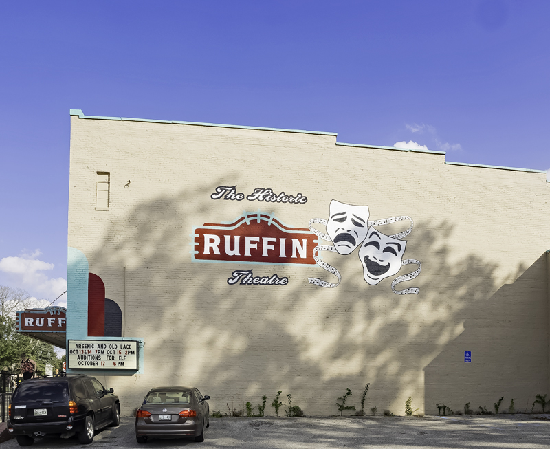 The Ruffin  Theater sidewall