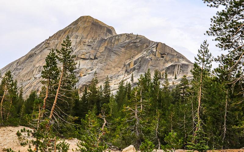 Granite peak along the Tioga Road in Yosemite National Park