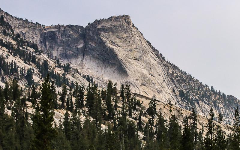 Close-up of Tenaya Peak along the Tioga Road in Yosemite National Park