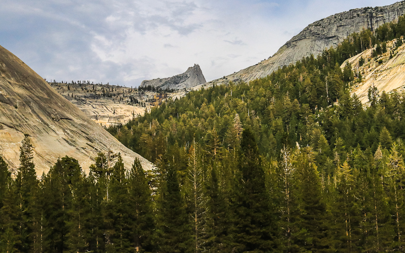 View of Cathedral Peak from along the Tioga Road in Yosemite National Park