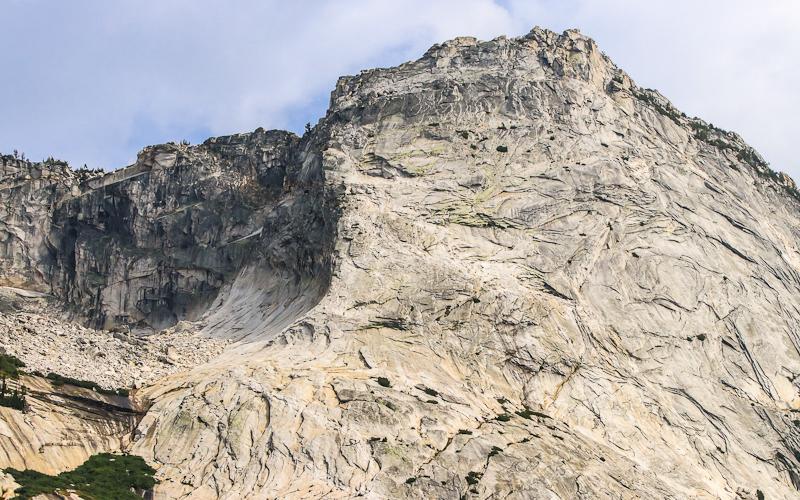 Close-up of Tenaya Peak from along the Tioga Road in Yosemite National Park