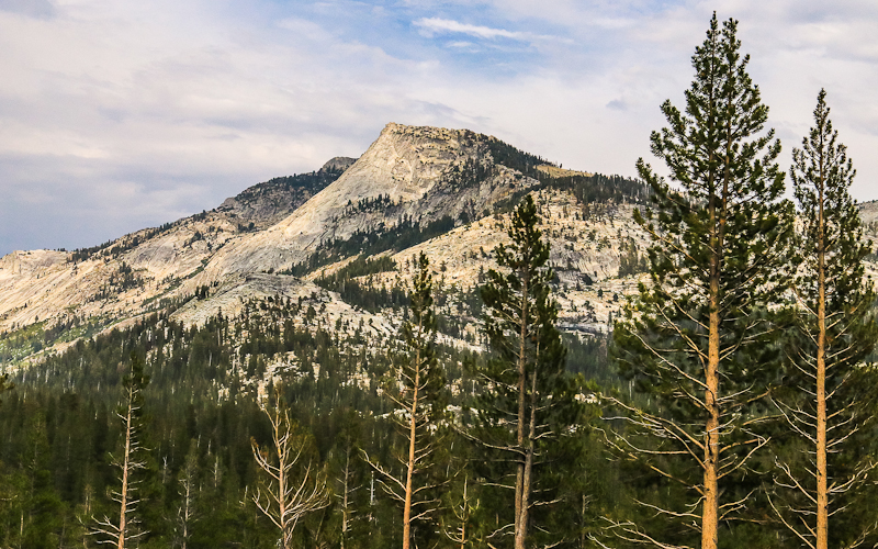 Tenaya Peak as viewed from Olmsted Point along the Tioga Road in Yosemite National Park