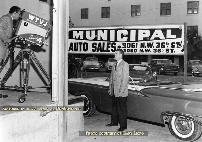 Jack O Brien Doing A Live Commercial For Municipal Auto Sales In The