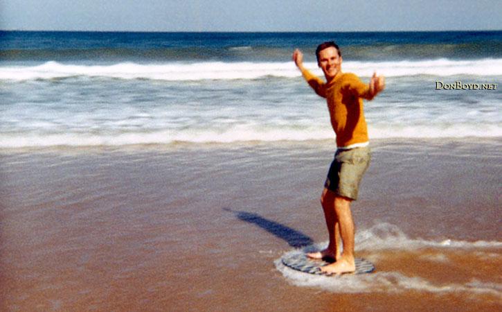 1970 - Don Boyd skim boarding on Jupiter Island