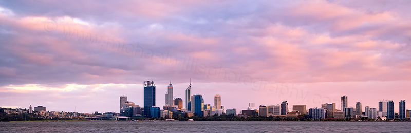 Perth and the Swan River at Sunrise, 2nd April 2012