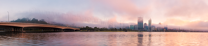 Perth and the Swan River at Sunrise, 9th April 2012