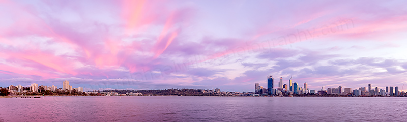 Perth and the Swan River at Sunrise, 17th April 2012
