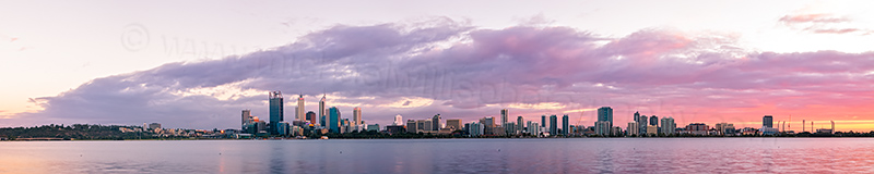 Perth and the Swan River at Sunrise, 19th April 2012