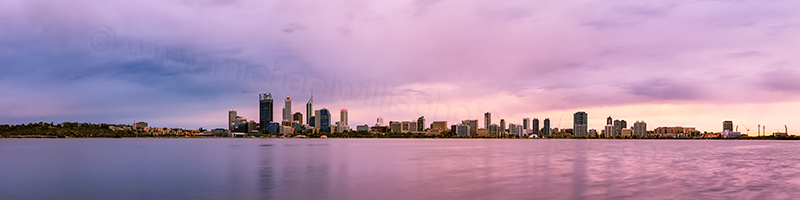 Perth and the Swan River at Sunrise, 28th April 2012