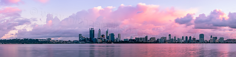 Perth and the Swan River at Sunrise, 4th August 2012