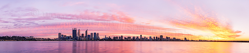 Perth and the Swan River at Sunrise, 11th August 2012