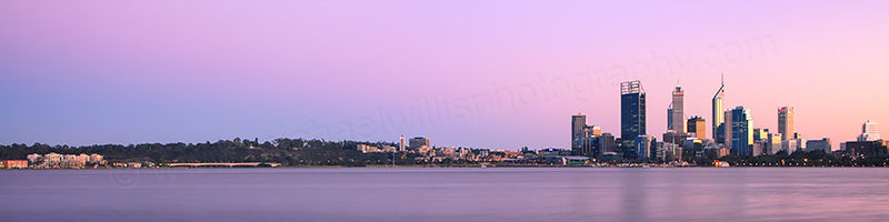 Perth and the Swan River at Sunrise, 18th August 2012