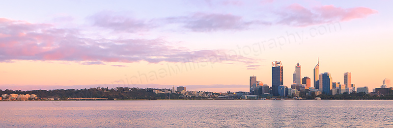 Perth and the Swan River at Sunrise, 23rd August 2012