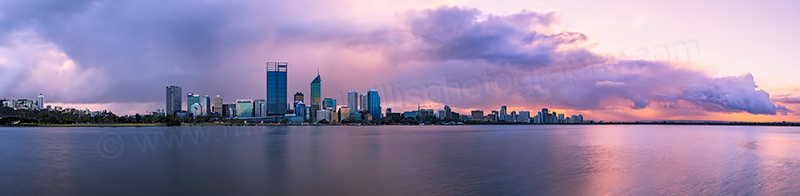 Perth and the Swan River at Sunrise, 28th August 2012